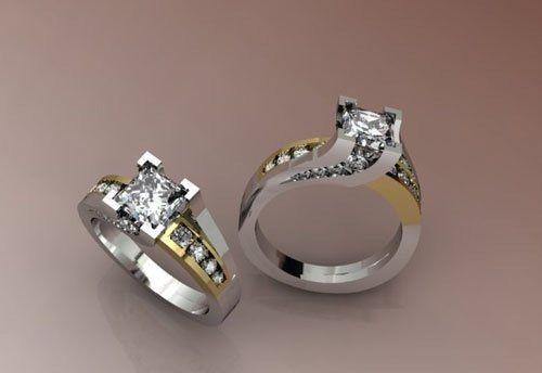 Tmx 1301851194192 CustomDesignTwoToneEngagementRing Osseo wedding jewelry