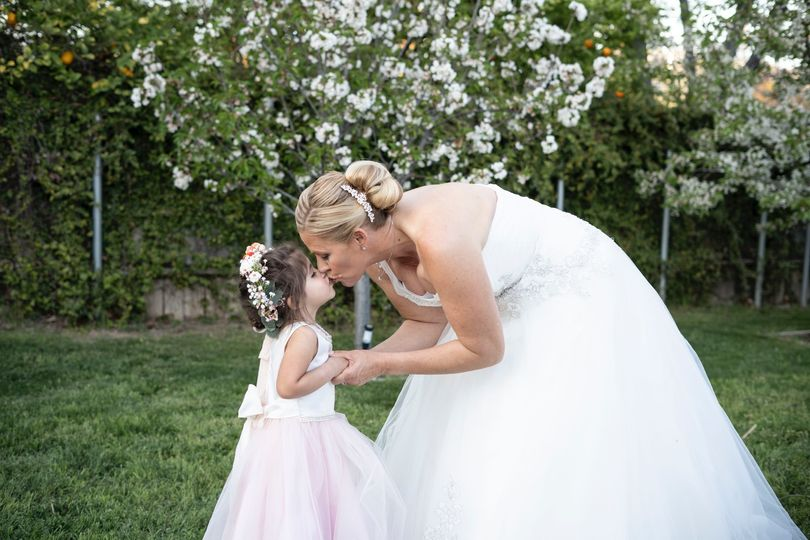 The bride and a little one