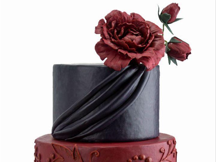 Tmx 1424654708982 Blackredpeony Bennington wedding cake