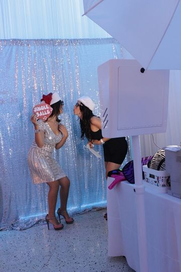 guests at photo booth