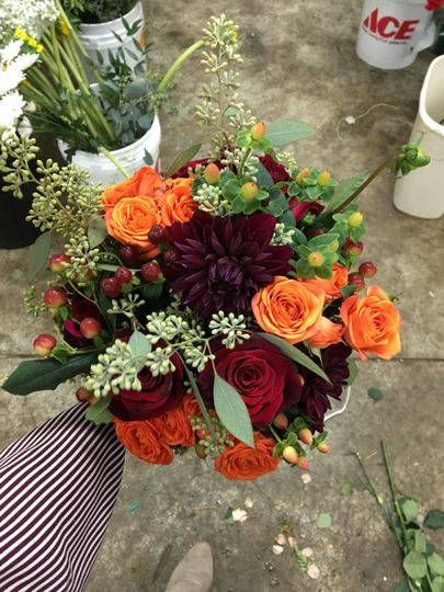 Bridesmaid bouquet for fall