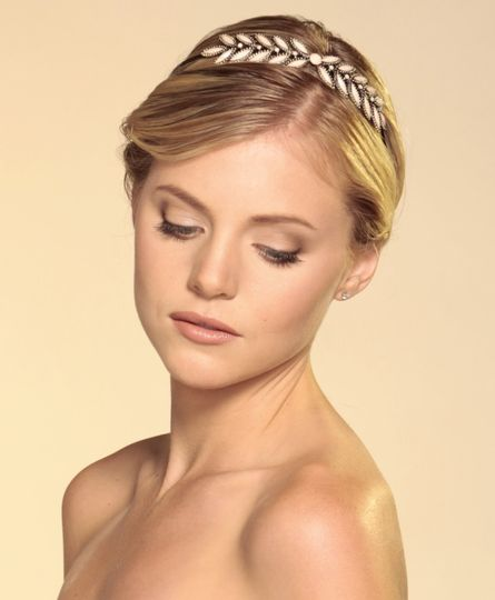 Soft makeup and bridal updo