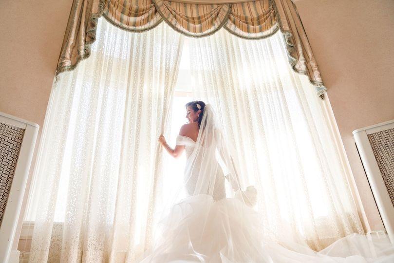 Gorgeous white bridal gown