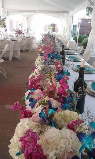30 foot floral garland by Anything's Possible Events