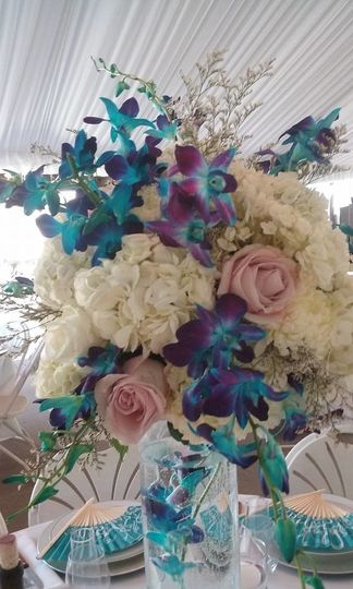 Tall centerpiece by Anything's Possible Events
