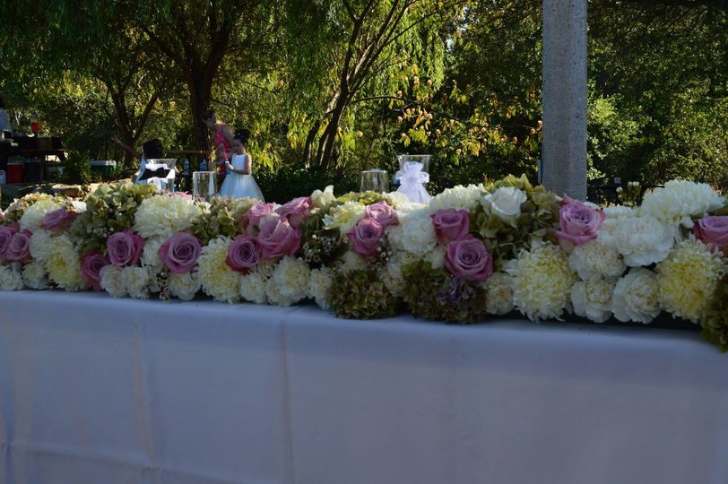 Table setting, Floral Design by Anything's Possible Events
