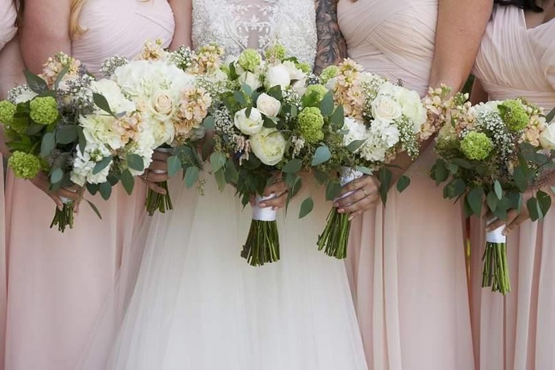 Spring Wedding at Gold Hill Gardens, floral design by Anything's Possible