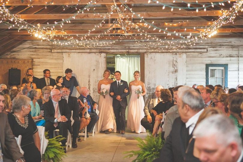 Providing ceremony music & ceremony microphone for officiant.  Barn wedding.