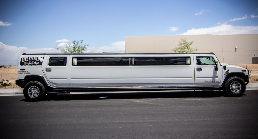 Hummer h2 stretch limo side view