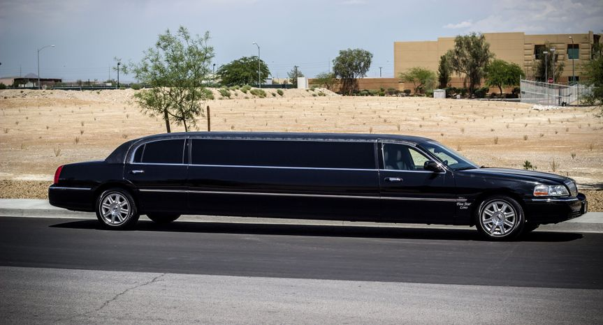 14 seater black limo