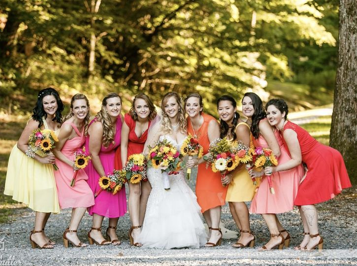 Our beautiful bride Katie and her bridesmaids!