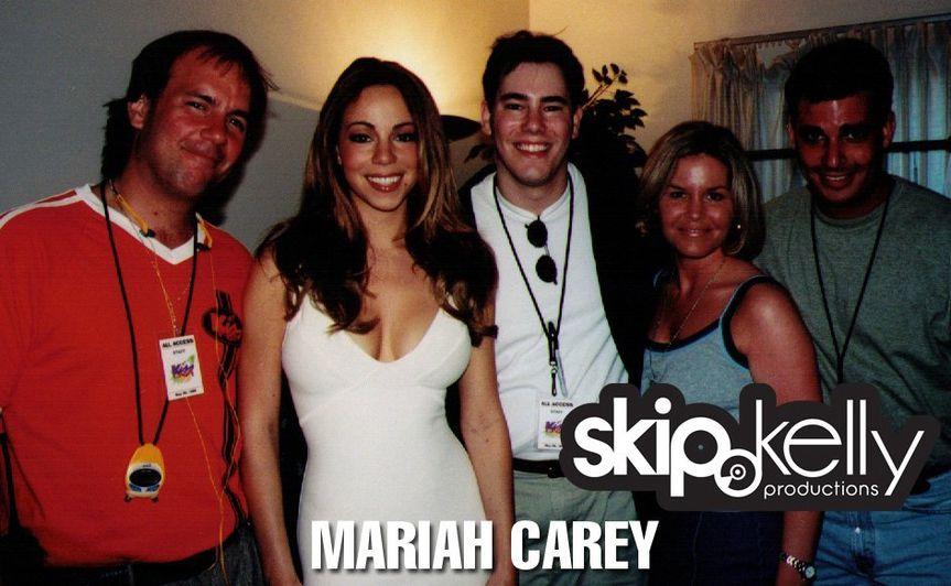 With Mariah Carey