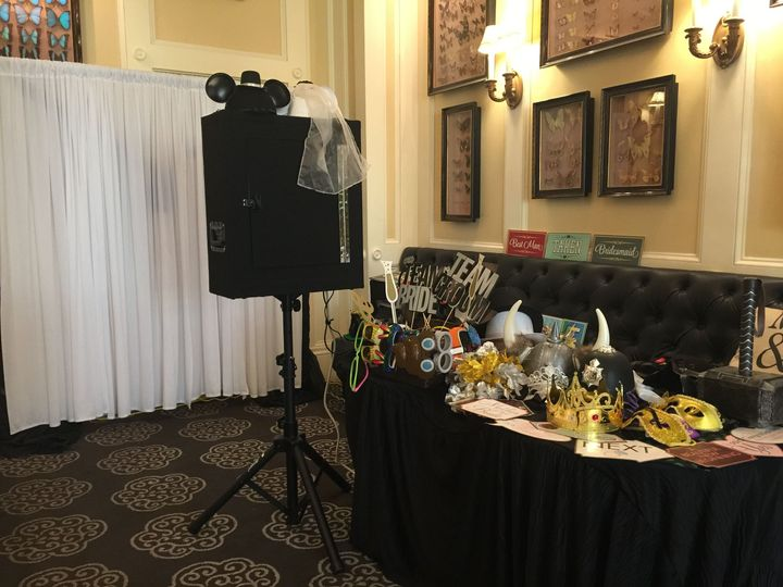 Booth and props table