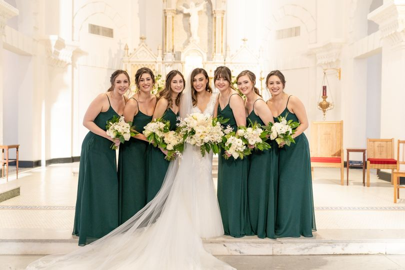Bridal Party Church Portraits
