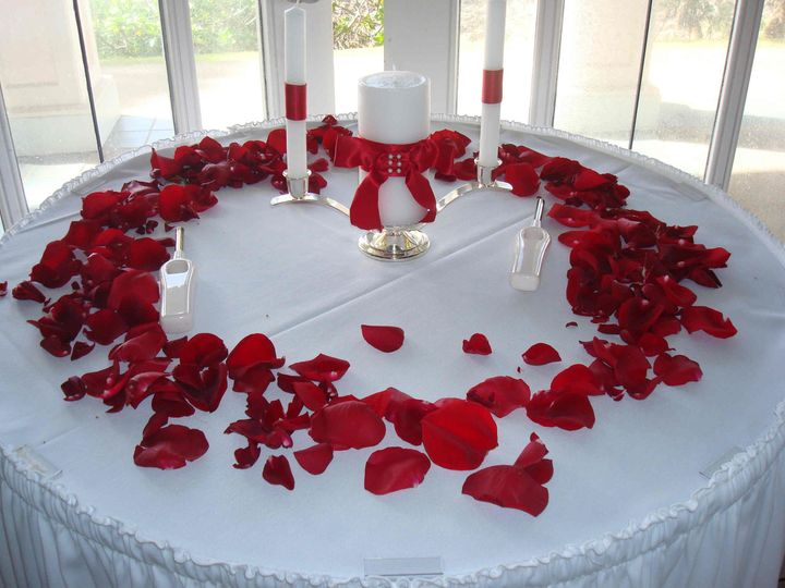 Wedding Valentine Set up