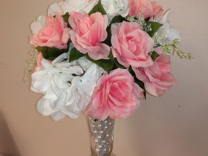 Simple Pink and White Vase