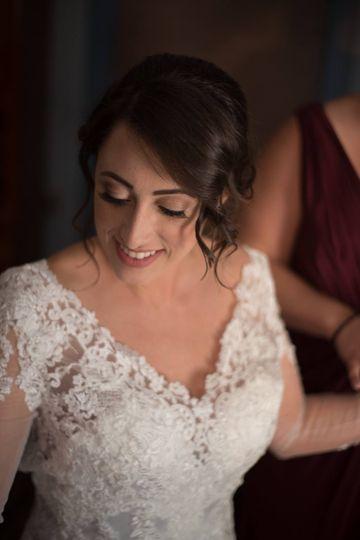 Bride looking her best