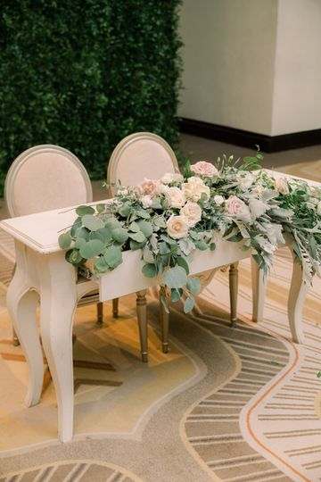 Sweetheart table details!