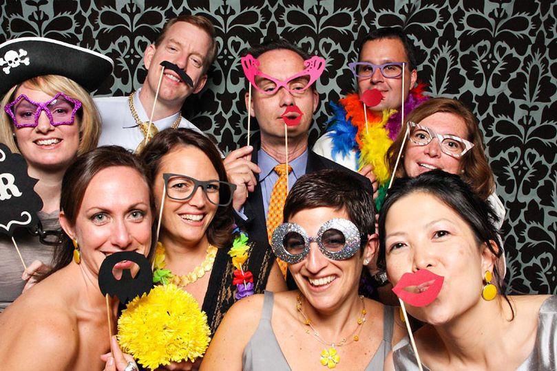 Guests in the photoboot