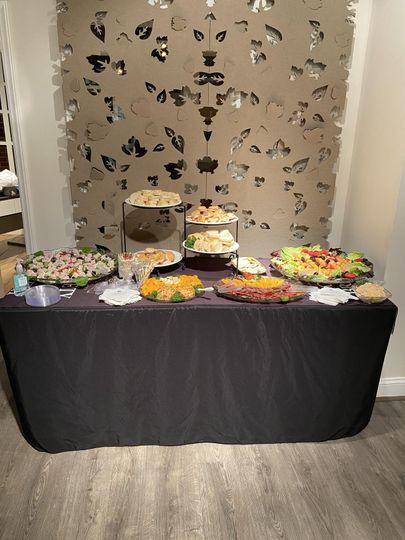 Food table.