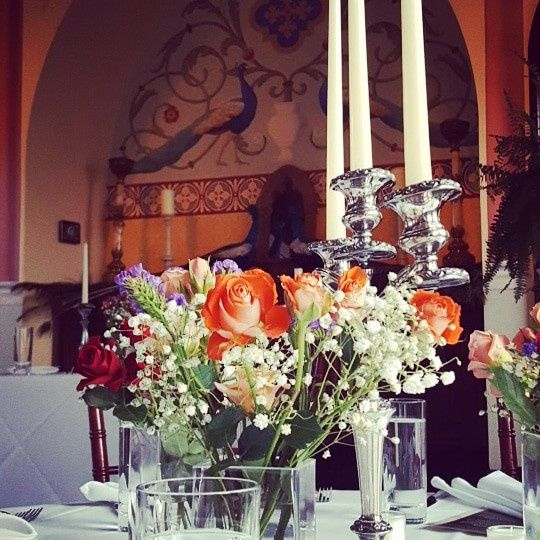 Chapel reception decor