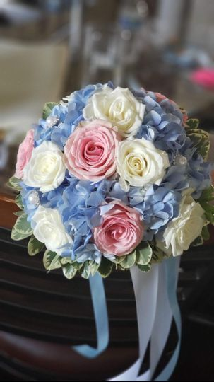 Blue and pink theme