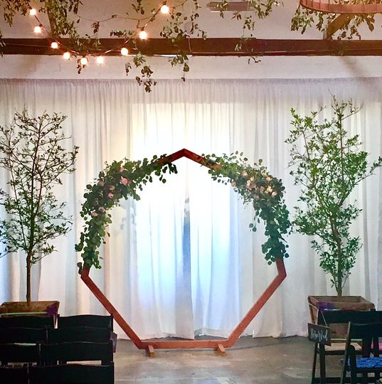 The Doyle greenery arch