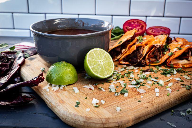 Quesabirria Tacos with Consome