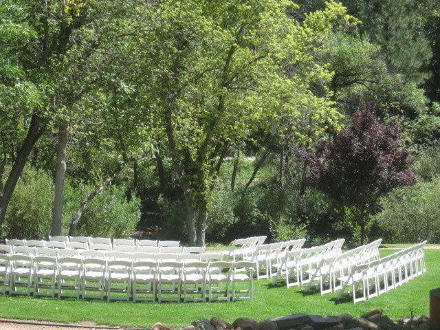 Outdoor wedding venue setup