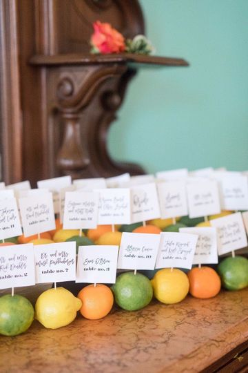 Fruity place settings