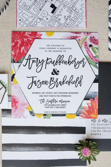 Colourful and kinetic design with florals