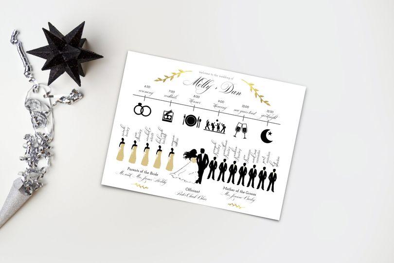 Illustrated silhouette invitation