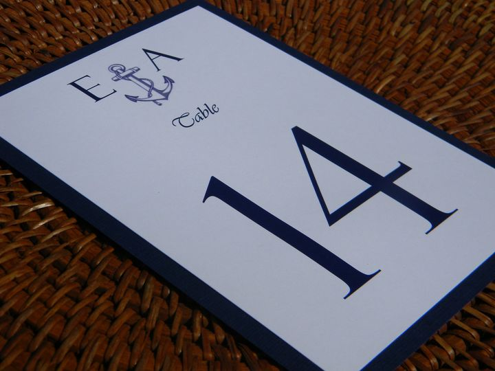 Sample table number