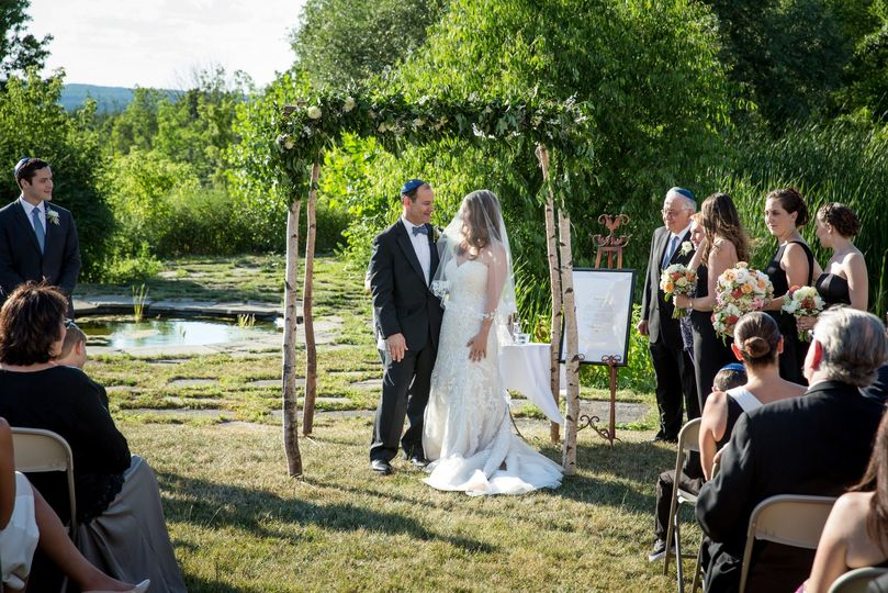 Outdoor ceremony by the water