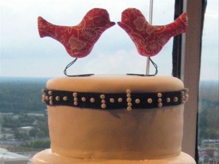 Tmx 1342794379366 SarahandChristian Durham wedding cake