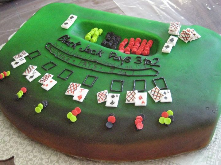 Tmx 1357748700183 BlackJacktable Durham wedding cake