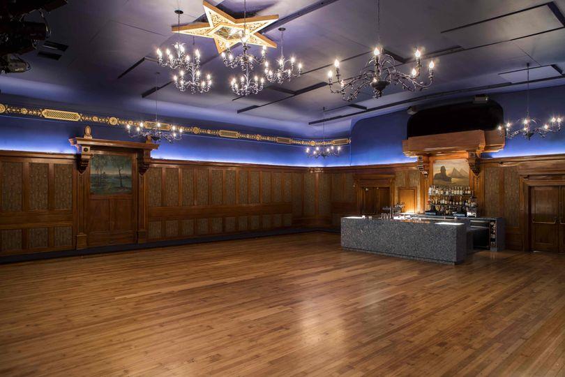 Lodge Room - view of bar area and hidden door