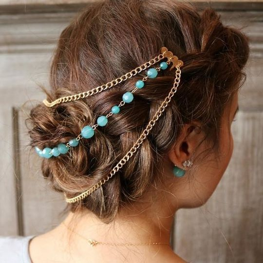 Gorgeous over an updo, headchains available in a variety of styles from $20-$28. Plus, for each...