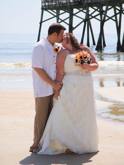 A kiss on the beach