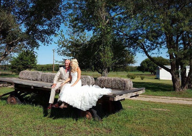 Newlyweds on Hay Rack