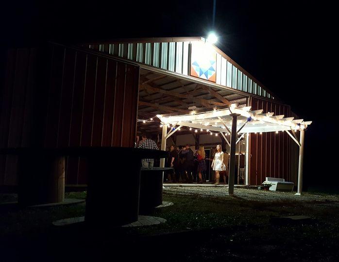Pergola outside Big Barn