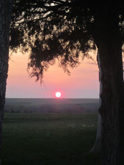 Beautiful Flint Hills sunset