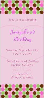 Cute birthday invitation for a little girl. (Sample)