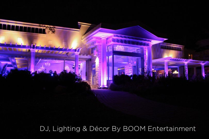 Exterior Uplighting provided by BOOM