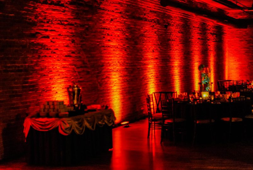 Uplighting Brick in a loft style venue located in the West Loop of Chicago - 451. Designed and...