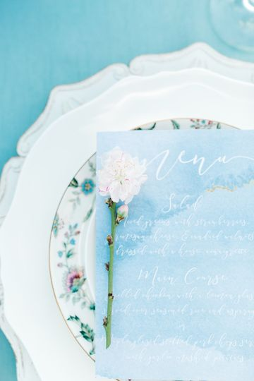 Flower and menu card