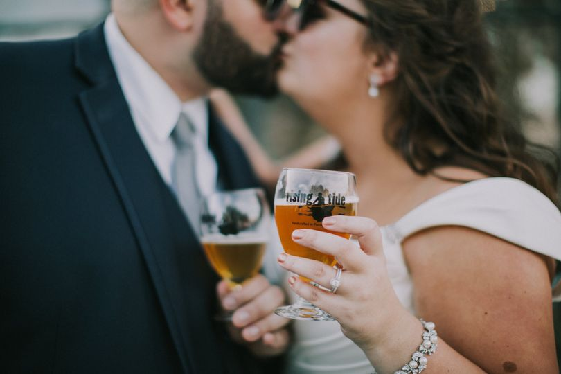 cheers to the newlyweds at rising tide brewing company 51 1023207
