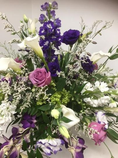 Lavenders and roses