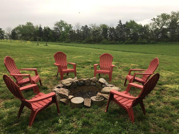A relaxing firepit