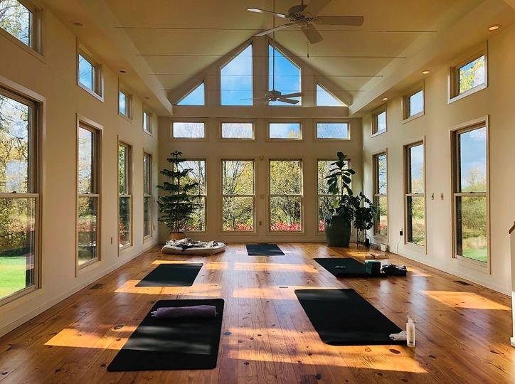Bright indoor event space